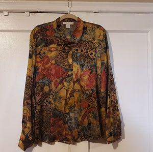 Doncaster Silk Button-down Blouse Size 12